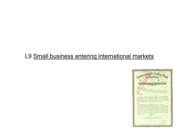 L9 Small business entering international markets