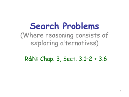 Search problems - Stanford Artificial Intelligence Laboratory