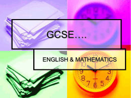 GCSE eng & maths PP