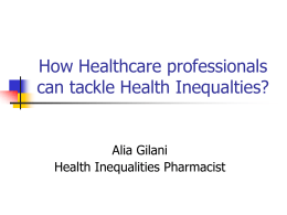 How healthcare professionals can tackle Health inequalities?