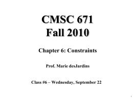 CMSC 471, Fall 2004