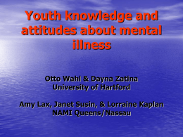 Youth knowledge and attitudes about mental illness