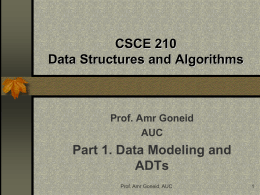 CSCI 210 Data Structures & Algorithms
