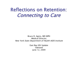 Reflections on Retention or The World of Connectivity in