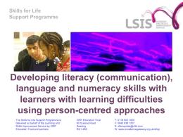 Contextualising the Pre Entry Level Curriculum Framework