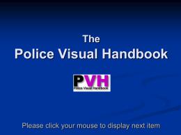 Maximising Use of the Police Visual Handbook
