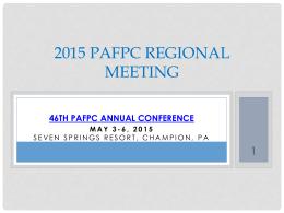 PAFPC 2012 Regional meeting