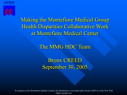Bronx Diabeaters Montefiore Medical Group 2