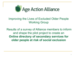 Age Action Alliance: Creating an online directory of