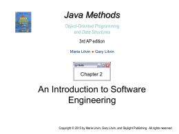 Java Methods 3rd AP edition