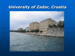University of Zadar, Department of Psychology