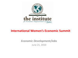 International Women's Economic Summit