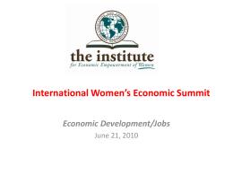International Women's Economic Summit