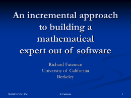 An incremental approach to building a mathematical …