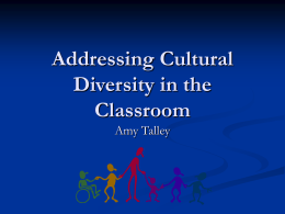 Addressing Diversity in the Classroom