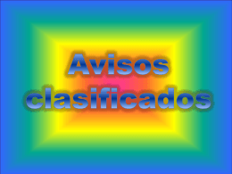 Avisos clasificados - SchoolWorld an Edline Solution