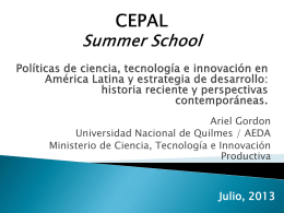 CEPAL Summer School