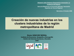 NEW FIRM CREATION AND INDUSTRIAL CLUSTERS IN …