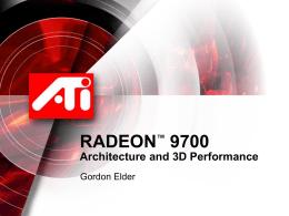 9700 Architecture Presentation V1