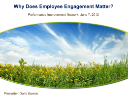 Why Does Employee Engagement Matter?