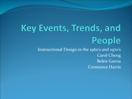 Key Events, Trends, and People