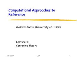 ESSLLI 02 - Lecture 4