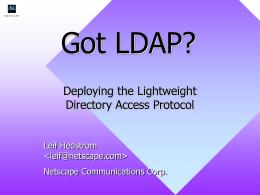 Got LDAP?