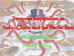 European Imperialism in India, China, and the Pacific Rim
