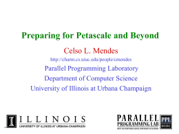 Preparing for PetaScale and Beyond