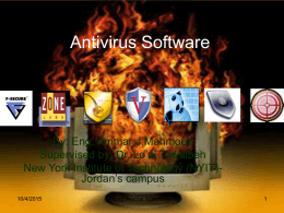 Antivirus Software - Jordan University of Science and