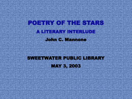 Poetry of the Stars