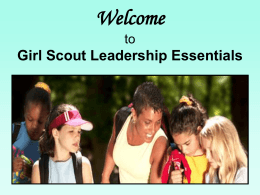 Outcomes of the New Girl Scout Leadership Experience