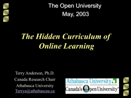The Hidden Curriculum of Distance Education