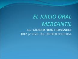 EL JUICIO ORAL MERCANTIL