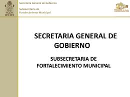 SECRETARIA GENERAL DE GOBIERNO