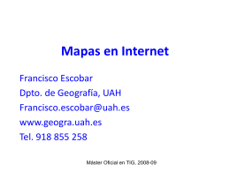 Mapas en Internet