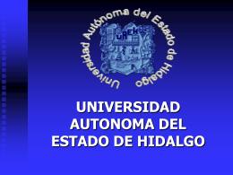 UNIVERSIDAD AUTONOMA DEL ESTADO DE HIDALGO