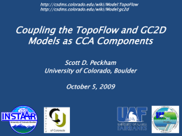 The TopoFlow Hydrologic Model: A New Community Project