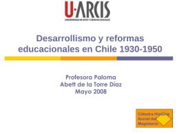 Desarrollismo y reformas educacionales en Chile