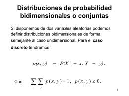 Distribuciones de probabilidad bidimensionales o conjuntas