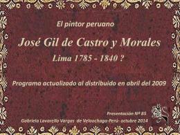 JOSE GIL DE CASTRO Y MORALES
