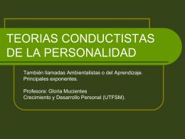 TEORIAS CONDUCTISTAS DE LA PERSONALIDAD