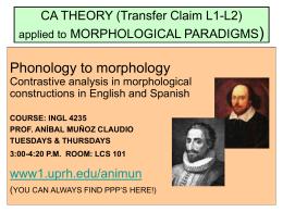 CA THEORY (Transfer Claim L1
