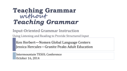 Proficiency-Oriented Language Teaching