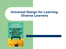 Universal Design for Learning: Diverse Learners