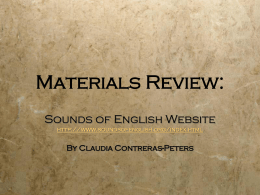 Materials Review: - English Pronunciation / FrontPage