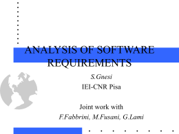 QUALITY EVALUATION OF SOFTWARE REQUIREMENTS …