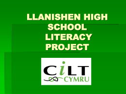 LLANISHEN HIGH SCHOOL LITERACY PROJECT