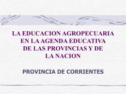 LA EDUCACION AGROPECUARIA EN LA AGENDA …