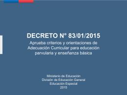 DECRETO 83/01/2015